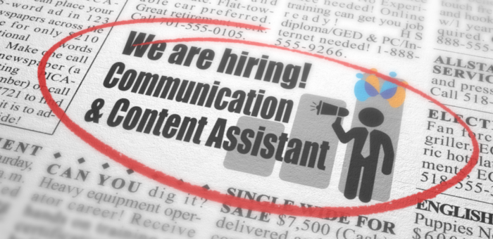 Communication and Content Assistant Job Opportunity