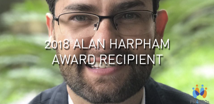PM4NGOS AND APMG ANNOUNCE THE RECIPIENT OF THE 2018 ALAN HARPHAM AWARD